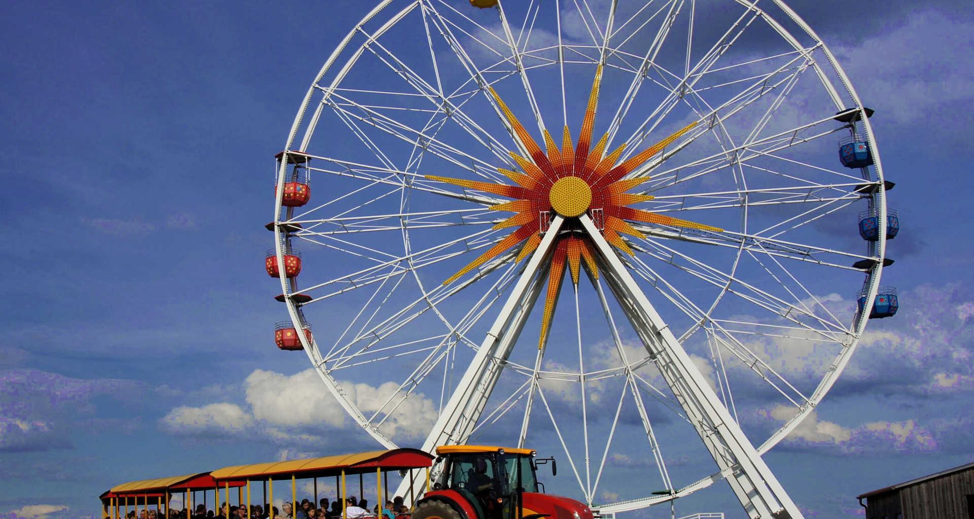 Riesenrad und Anton im Sonnenlandpark